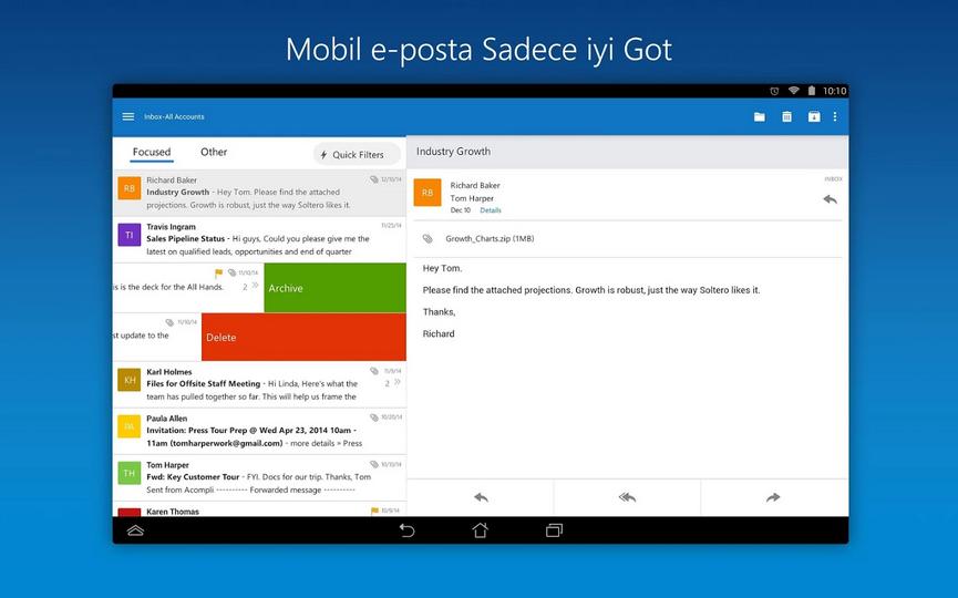 Microsoft-Outlook-Android-Uygulamasi