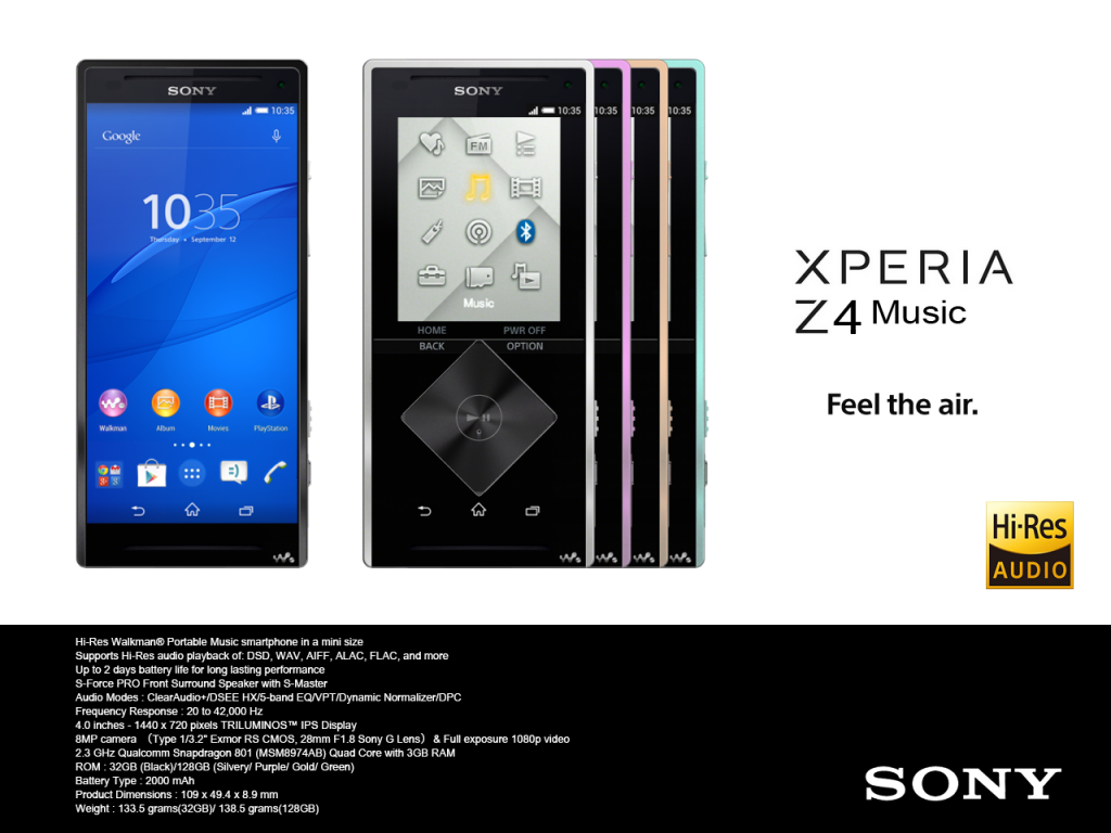 Sony-Z4-Muzik-Music