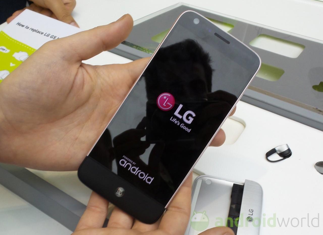 on bakis LG-G5
