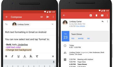Gmail android uygulaması, gmail diğer özellikler